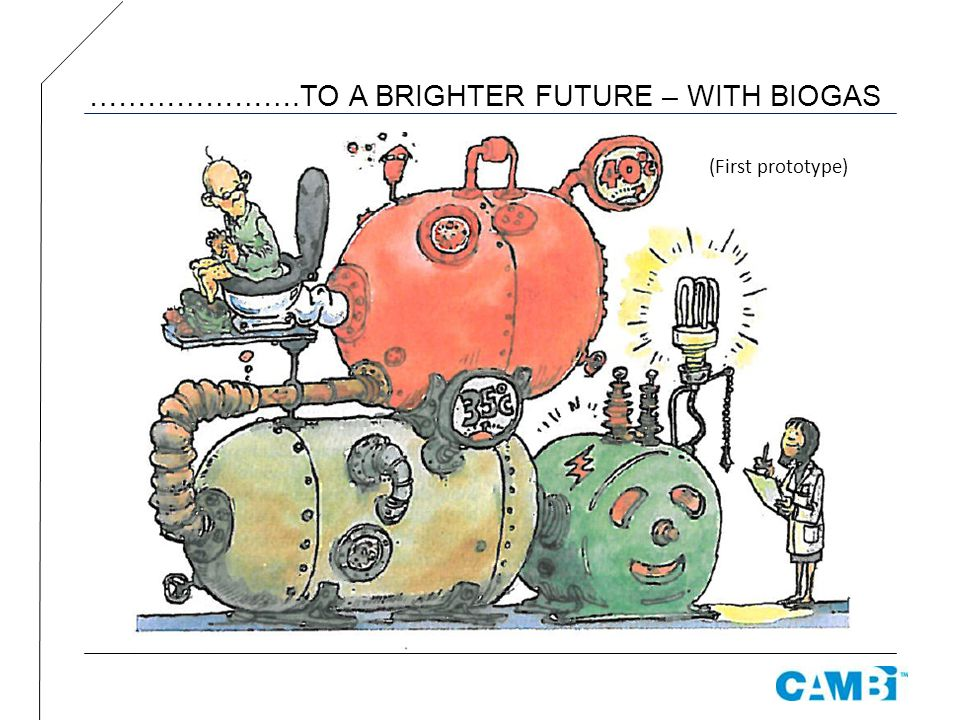………………….TO A BRIGHTER FUTURE – WITH BIOGAS (First prototype)
