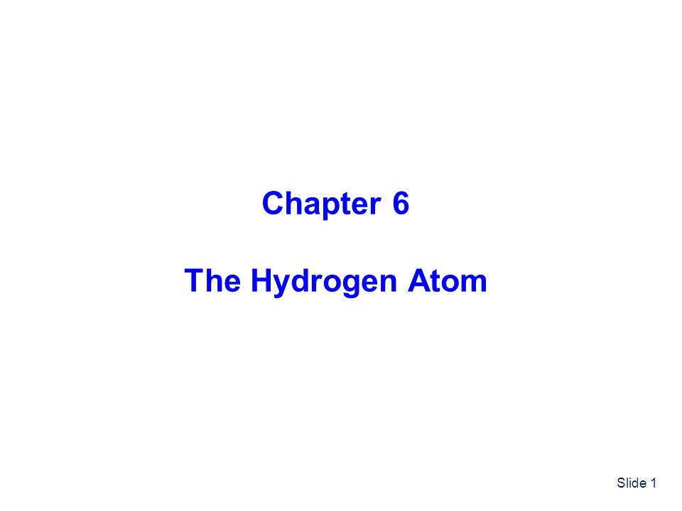 Slide 1 Chapter 6 The Hydrogen Atom