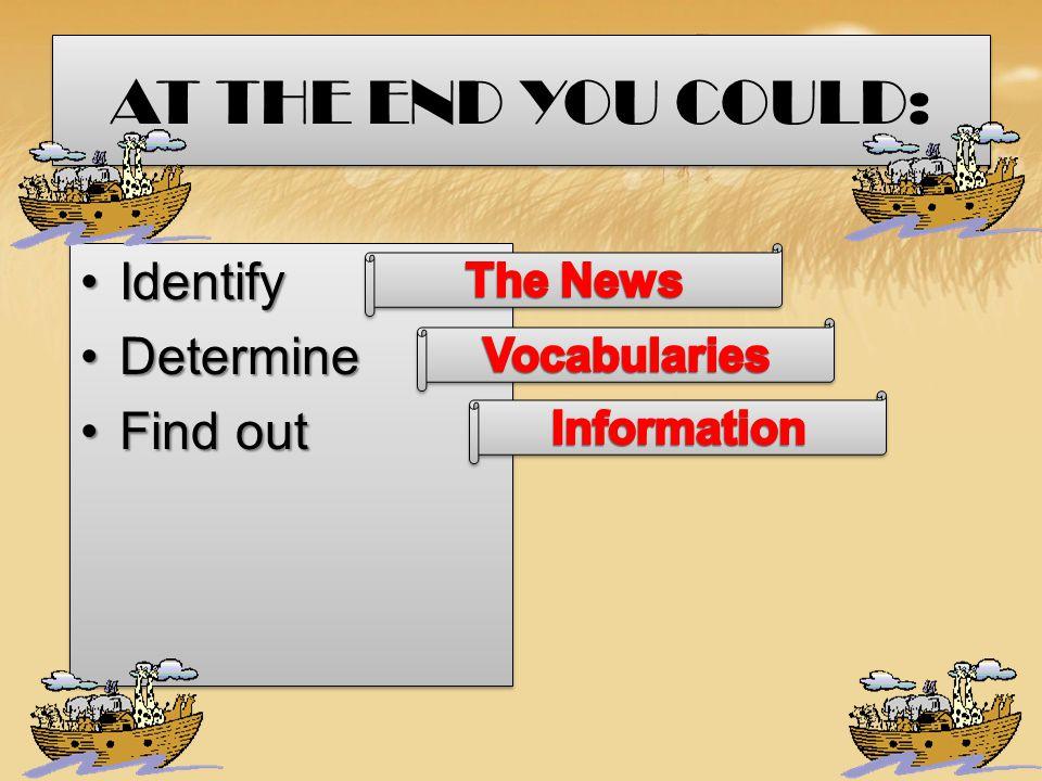 Mengidentifikasi gambaran umum teks tulis berbentuk news item (C-1) Menentukan makna kata-kata tertentu dalam teks tulis berbentuk news item (C-2) Menentukan rujukan kata-kata tertentu dalam teks tulis berbentuk news item (C-3) Menyusun beberapa paragraf menjadi sebuah teks tulis berbentuk news item (C-3) Menemukan informasi rinci tersurat dan tersirat dalam teks tulis berbentuk news item (C-4) Mengidentifikasi gambaran umum teks tulis berbentuk news item (C-1) Menentukan makna kata-kata tertentu dalam teks tulis berbentuk news item (C-2) Menentukan rujukan kata-kata tertentu dalam teks tulis berbentuk news item (C-3) Menyusun beberapa paragraf menjadi sebuah teks tulis berbentuk news item (C-3) Menemukan informasi rinci tersurat dan tersirat dalam teks tulis berbentuk news item (C-4)