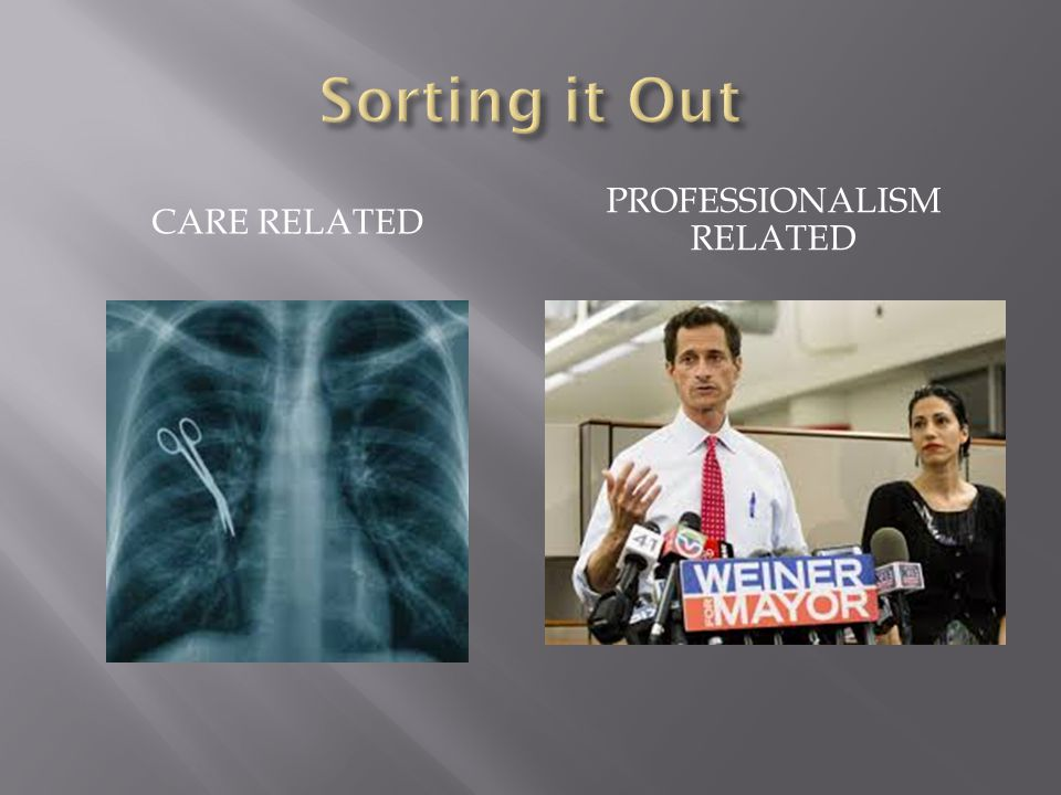 CARE RELATED PROFESSIONALISM RELATED