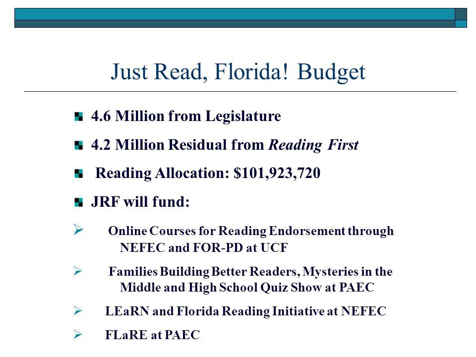 Just Read, Florida.