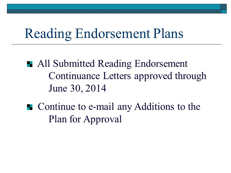 Reading Endorsement Competencies through Approved Pre-service Programs SBE Rule passed in 2006 Elementary Ed, ESE and Pre K-Primary will graduate with competencies 1-5 (Competency 6 optional) All other teacher preparation programs (middle grades, secondary and K-12 special areas) will graduate with competencies 1-2