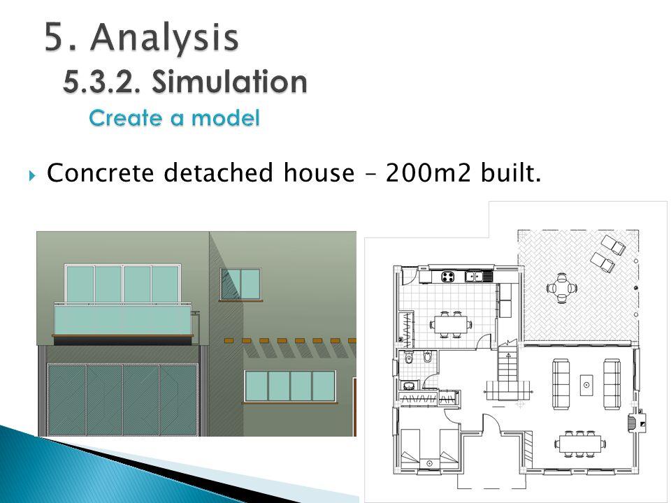  Concrete detached house – 200m2 built.