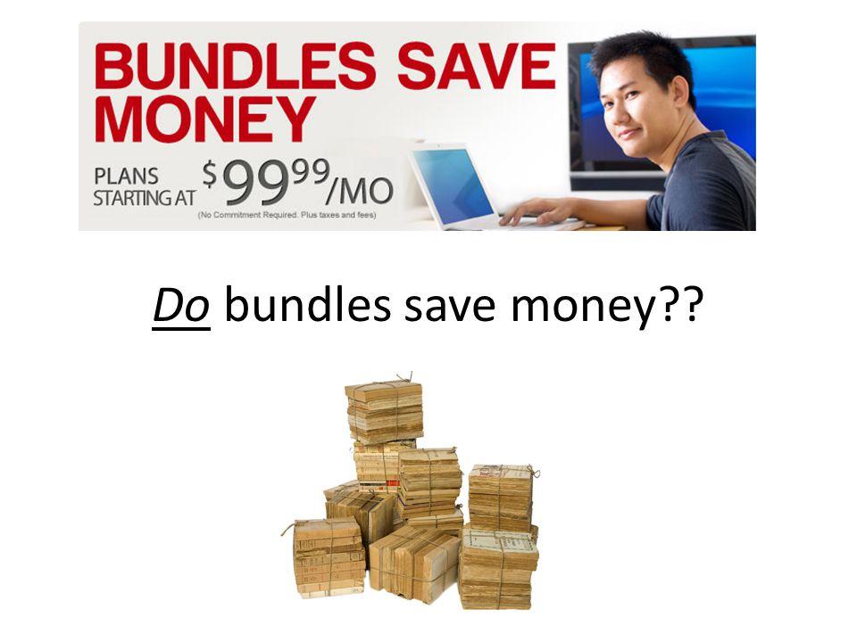 Do bundles save money