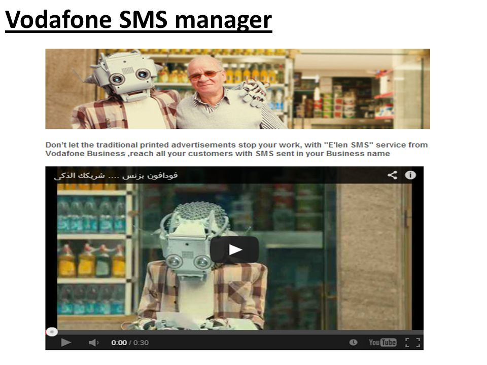 Vodafone SMS manager