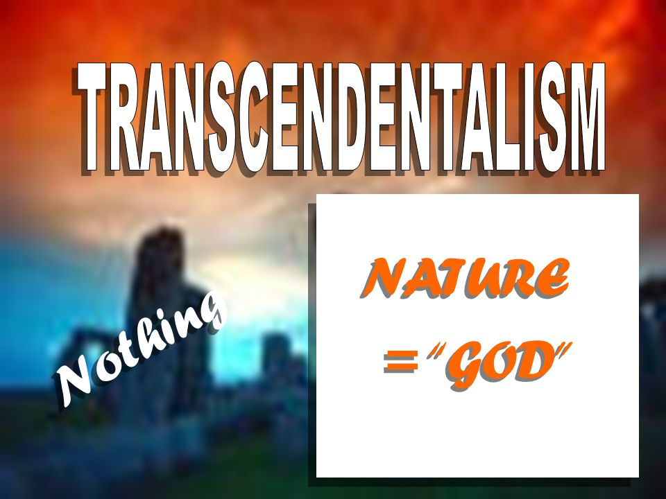 = GOD NATURE Nothing
