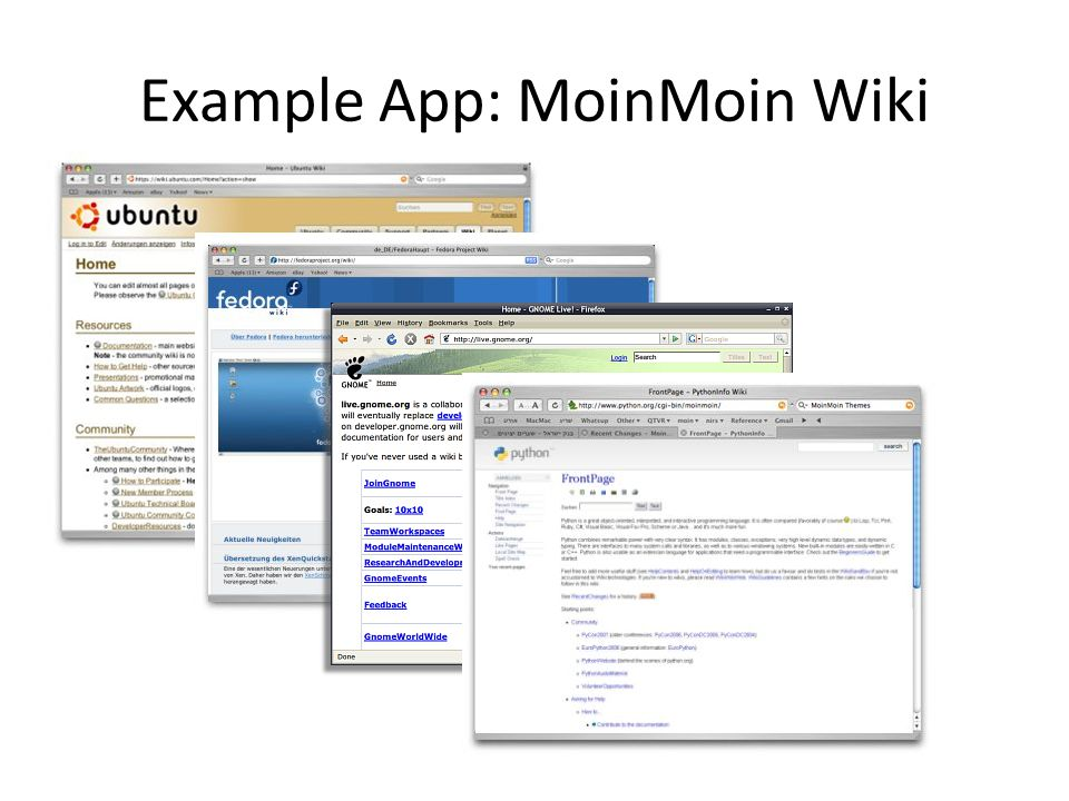 Example App: MoinMoin Wiki