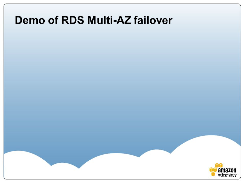 Demo of RDS Multi-AZ failover