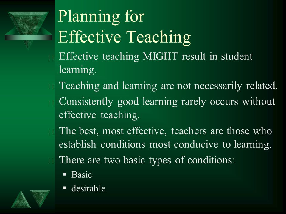 t Effective teaching MIGHT result in student learning.