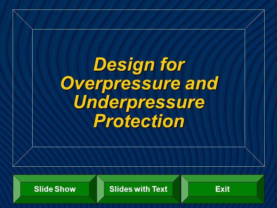 Design for Overpressure and Underpressure Protection Slide ShowExitSlides with Text