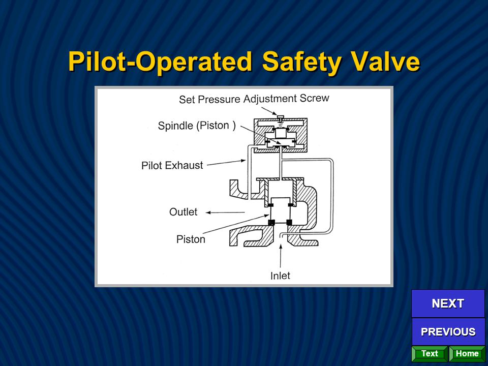 Pilot-Operated Safety Valve Home NEXT PREVIOUS Text