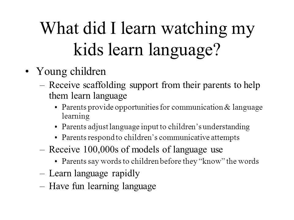 AAC systems should be dynamic Young children experience qualitative & quantitative changes in development AAC systems must reflect these changes –Introduce new activities regularly Respond to child's preferences –Introduce new concepts regularly ***Provide access to range of language concepts Model their use in meaningful contexts Don't wait for child to prove comprehension –Introduce more hotspots as motor skills develop Embed more language