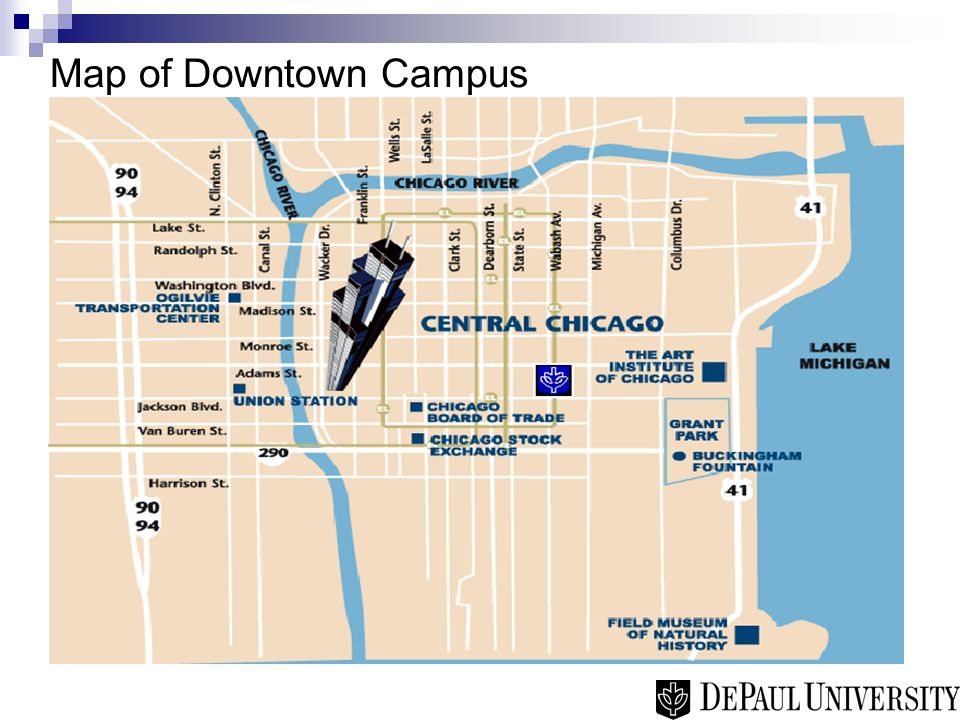 Map of Downtown Campus