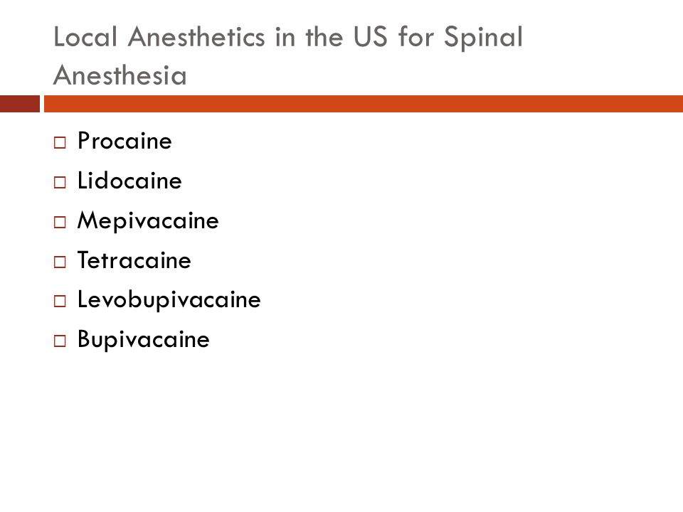 Spinal Anesthetic Additives  Epinephrine is generally added in doses of 01.-0.2 mg  Phenylephrine is generally added in doses of 1-2 mg  Additives may prolong the spinal block by decreasing uptake of the local anesthetic and weak analgesic properties (alpha 2 adrenergic effects)