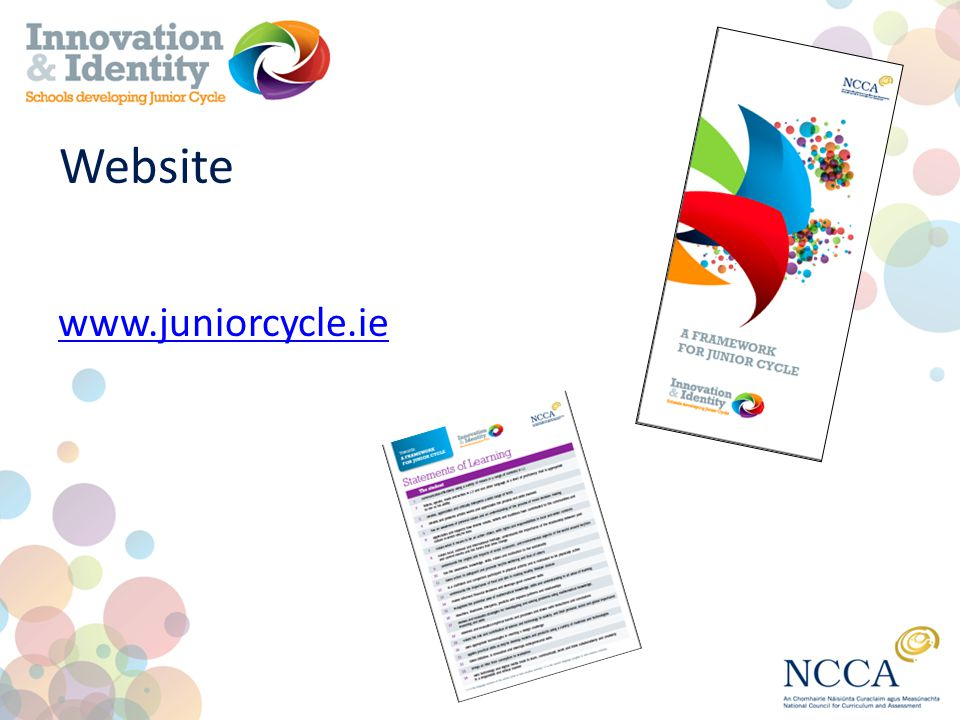 Website www.juniorcycle.ie
