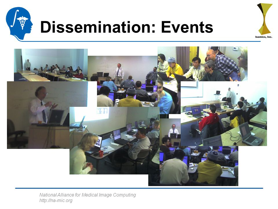 National Alliance for Medical Image Computing http://na-mic.org Dissemination: Events