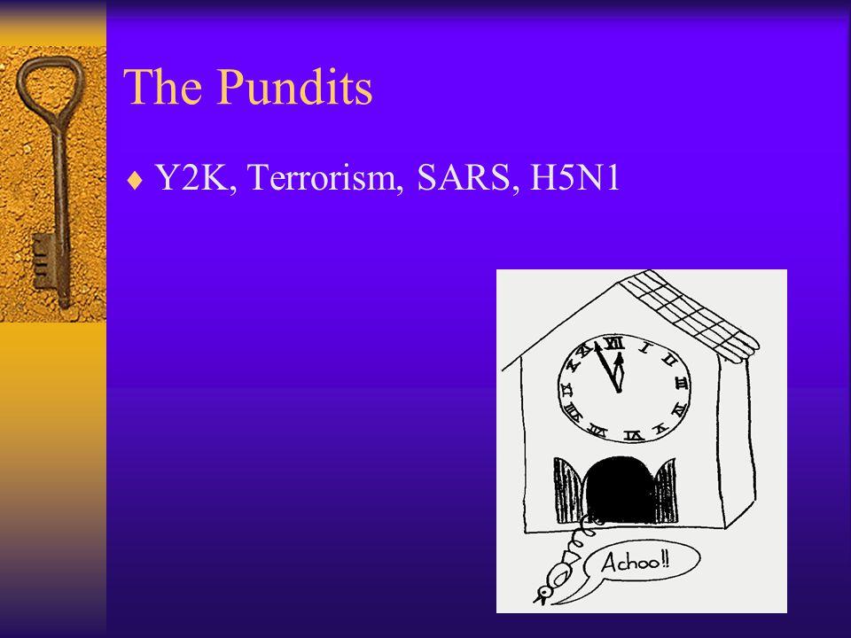 The Pundits  Y2K, Terrorism, SARS, H5N1