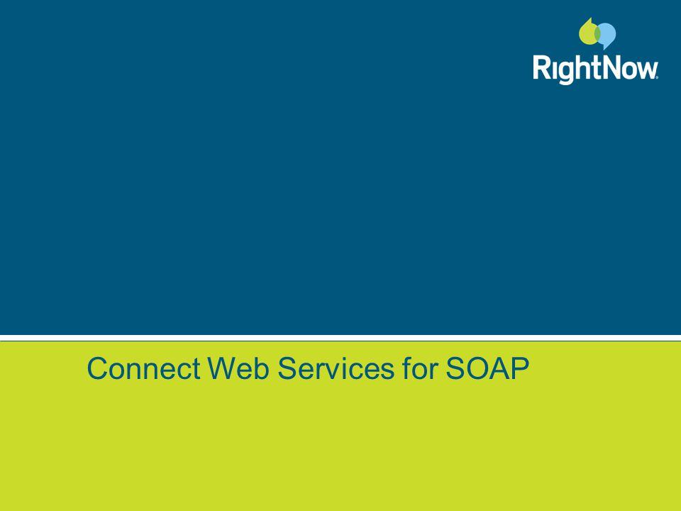 Connect Web Services for SOAP