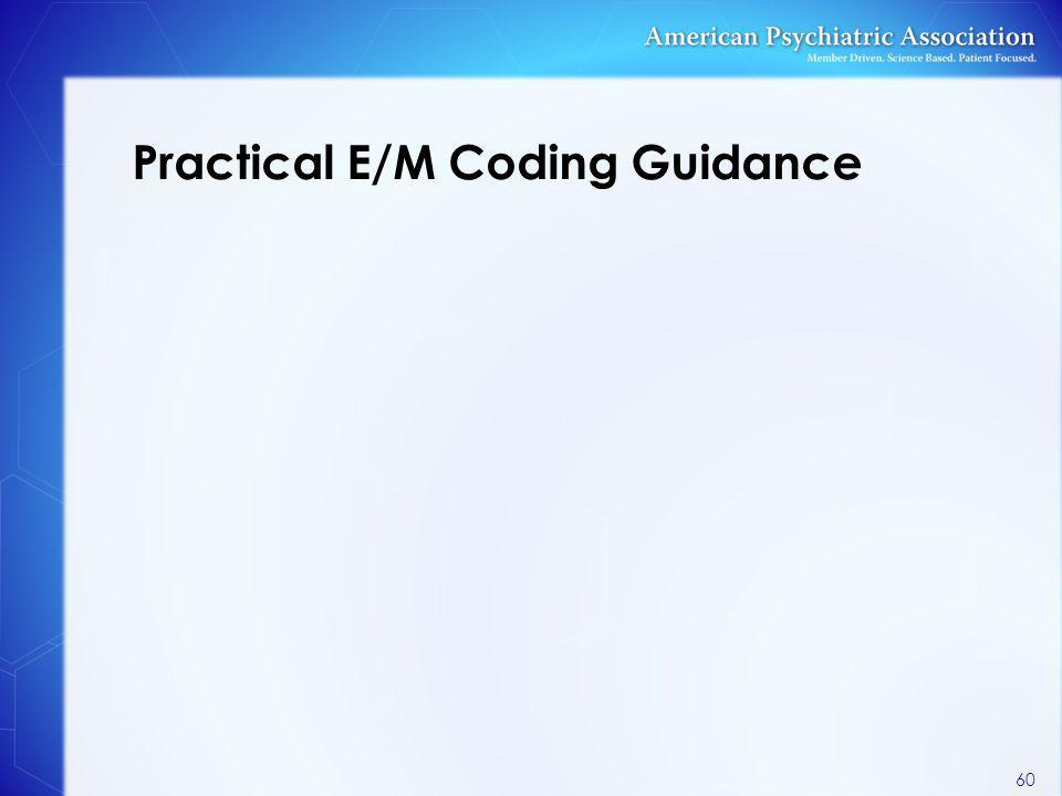 Practical E/M Coding Guidance 60
