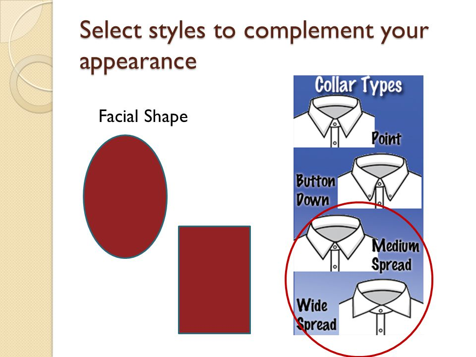 Select styles to complement your appearance Facial Shape