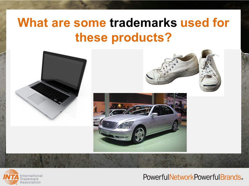 What are some trademarks used for these products