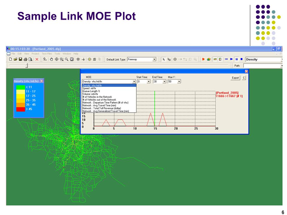 Step 3: LinkMOE.csv 47 1.Iteration 2.From-node ID 3.To-node ID 4.Timestamp in minute 5.Travel time in minute 6.Delay in minute 7.Link volume in vehicle 8.Link volume in vehicle/hour/lane (vehphpl) 9.Density in vehicle/mile/lane 10.Speed in mph 11.Exit queue length 12.Cumulative arrival count 13.Cumulative departure count