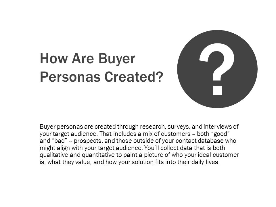 How Do You Socialize A Buyer Persona.