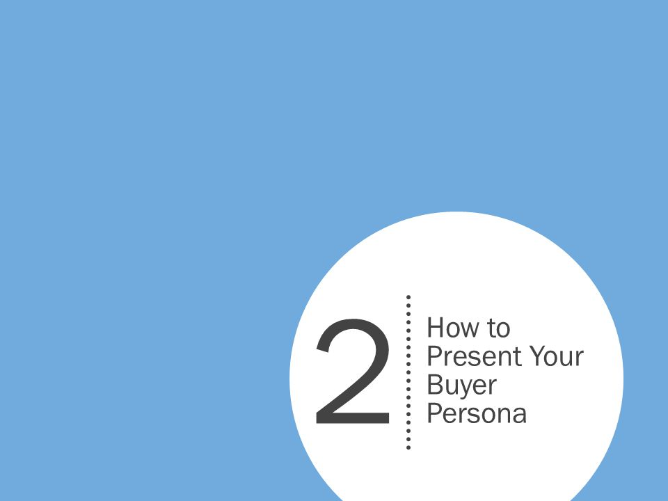 How to Present Your Buyer Persona 2