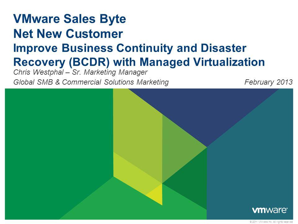 2 VMware Sales Byte Overview Customer ChallengePartner OpportunityVMware Solution OverviewCustomer ProfileNext Steps