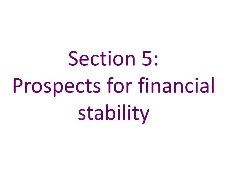 Section 5: Prospects for financial stability