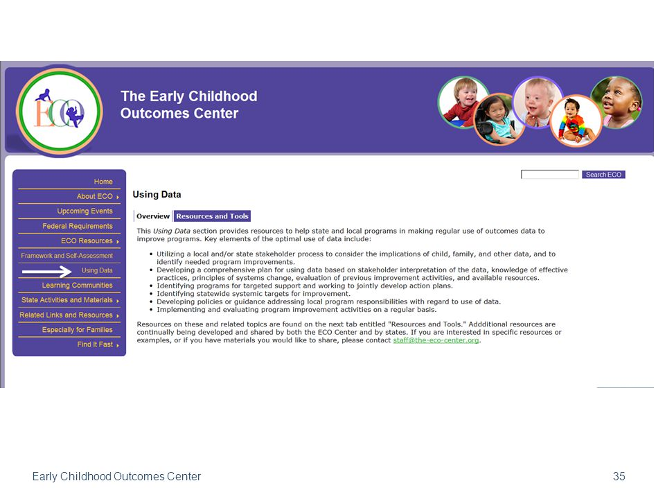 35 Early Childhood Outcomes Center