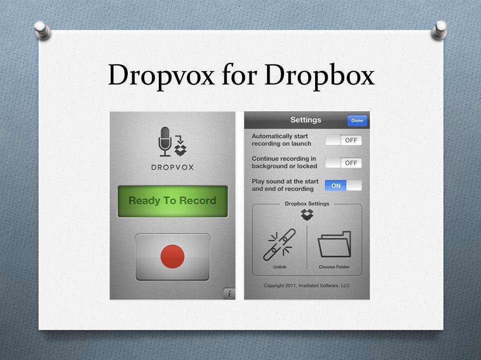 Dropvox for Dropbox