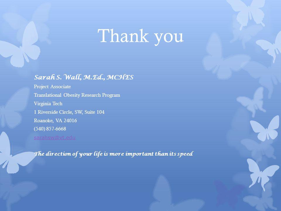 Thank you Sarah S.