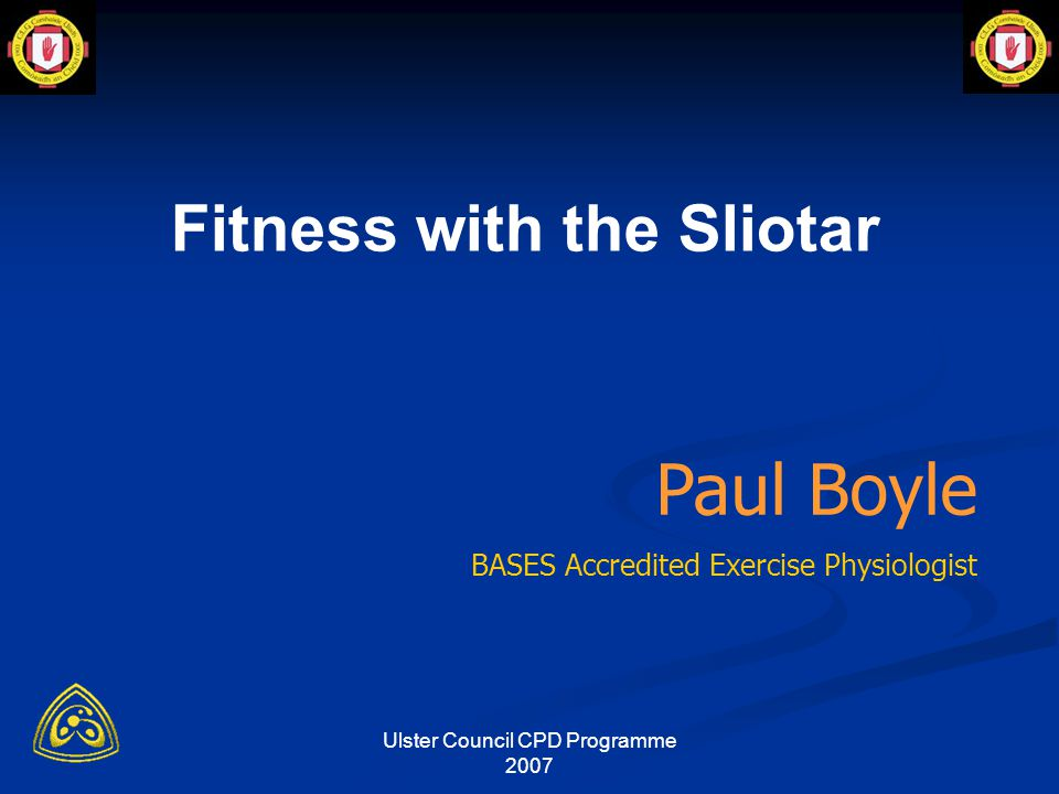 Ulster Council CPD Programme 2007 What Type of Drills/Exercise.