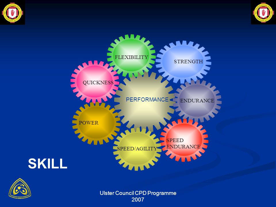 Ulster Council CPD Programme 2007 Principles of Fitness Training t i r t TIME i INTENSITY r RECOVERY