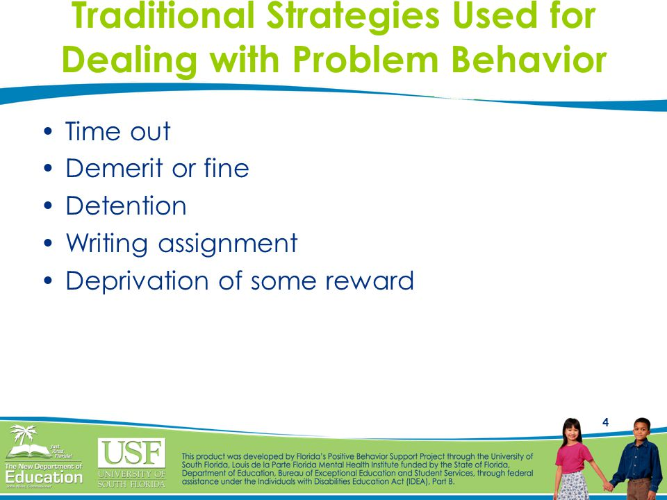 15 Reasonable and Logical Strategies Student BehaviorIllogical StrategiesLogical Strategies Passes paper in incorrectly Teacher deducts 10 points Passes paper in again correctly Arrives lateTeacher sends student to the office Misses instruction and has to get help from a peer Does not bring text book or pencil Student sits at their desk without a pencil or textbook Student has to borrow one from the teacher for.50 cents (classroom money)