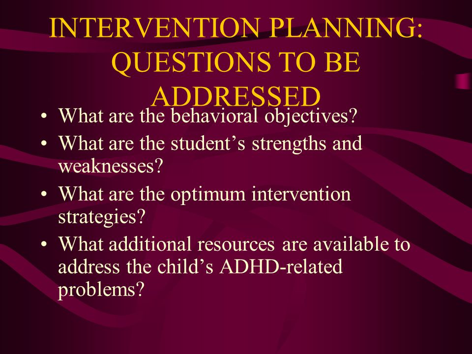 "LD VS. ADHD Lacks early childhood history of hyperactivity ""ADHD"" behaviors arise in middle childhood ""ADHD"" behaviors appear to be task- or subject-s"