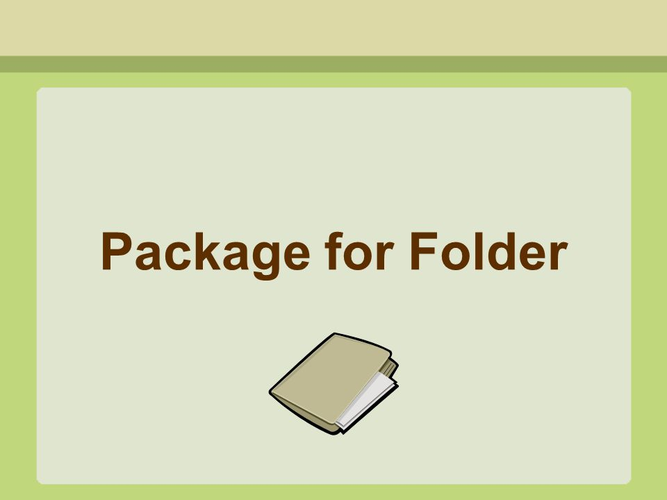 Package for Folder
