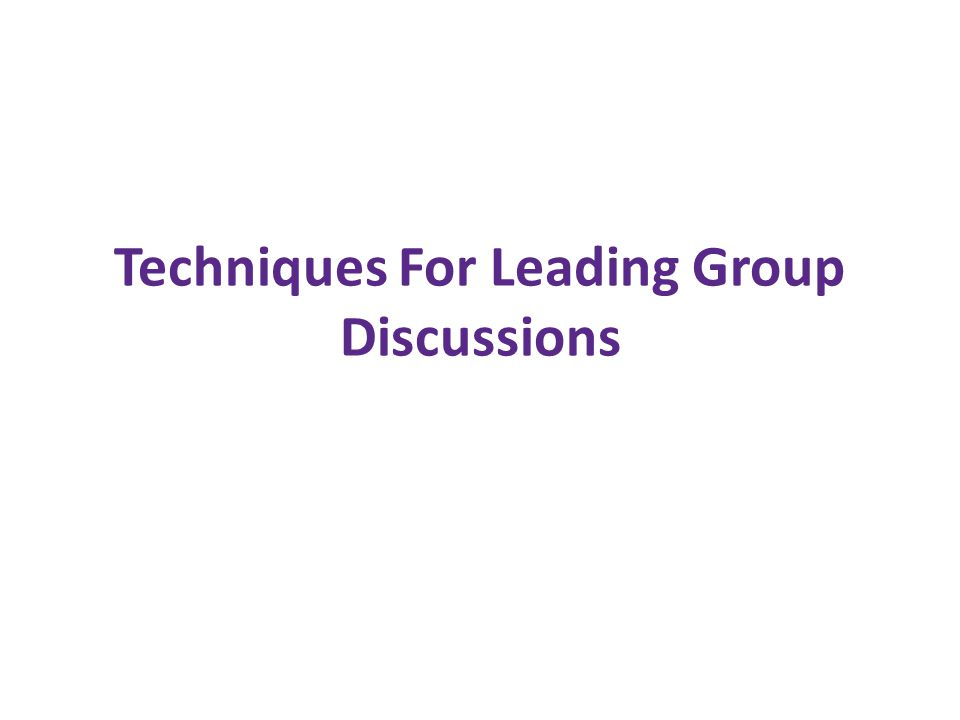 What is an effective group discussion.