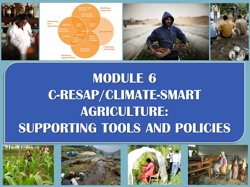 Accessing other modules: Part I - Agriculture, food security and ecosystems: current and future challenges Module 1.