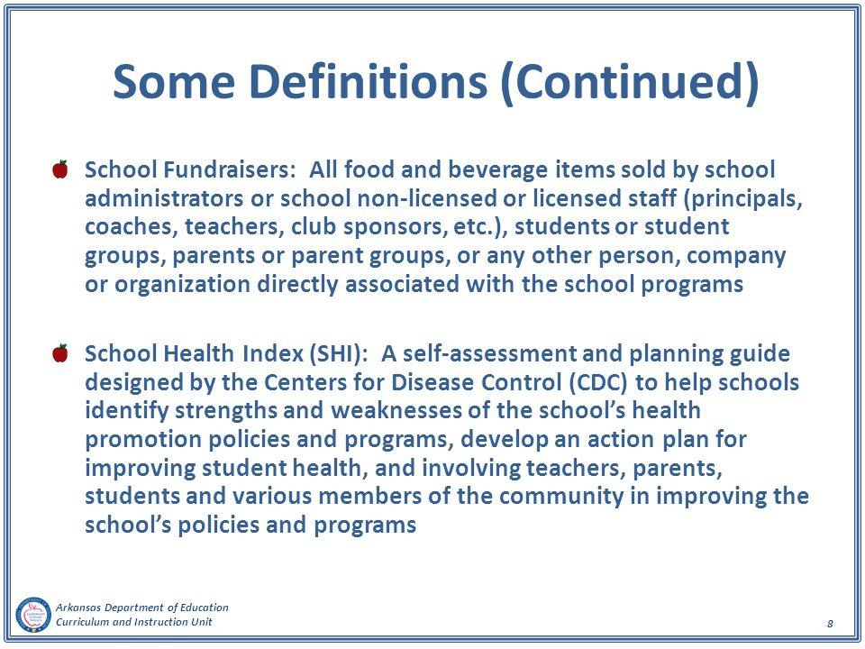 Arkansas Department of Education Curriculum and Instruction Unit 9 Key Committees
