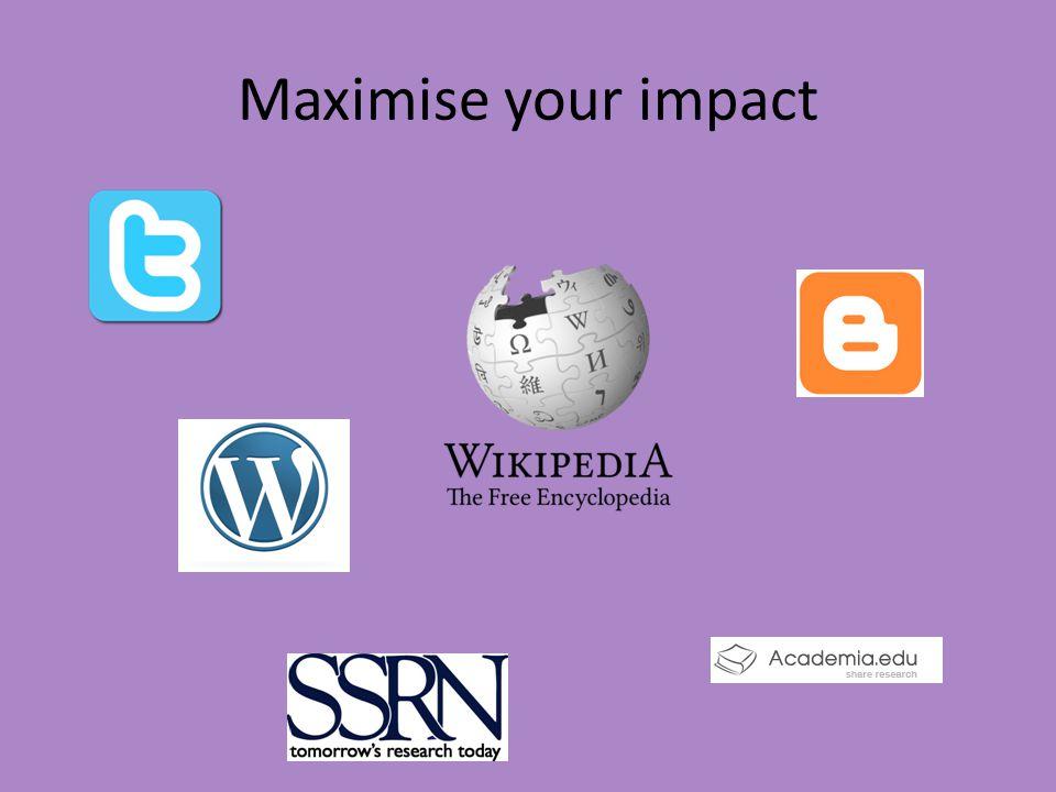 Maximise your impact