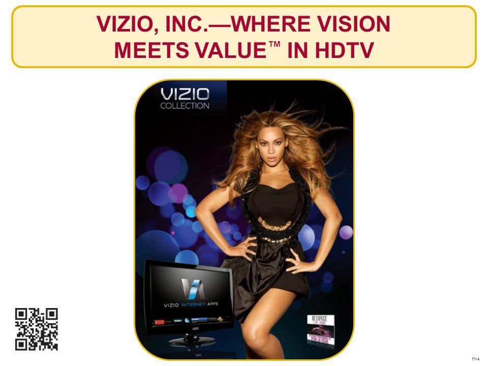 VIZIO, INC.—WHERE VISION MEETS VALUE ™ IN HDTV 11-4