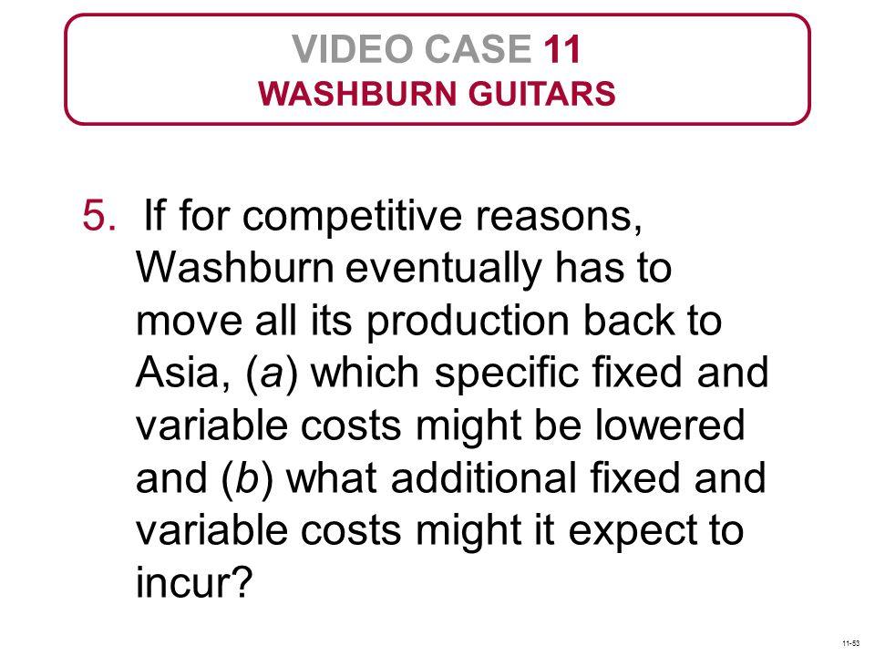 VIDEO CASE 11 WASHBURN GUITARS 5.
