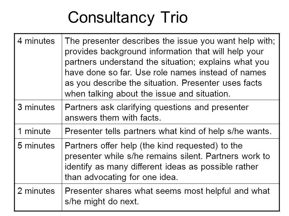 Consultancy Trio Form triads.