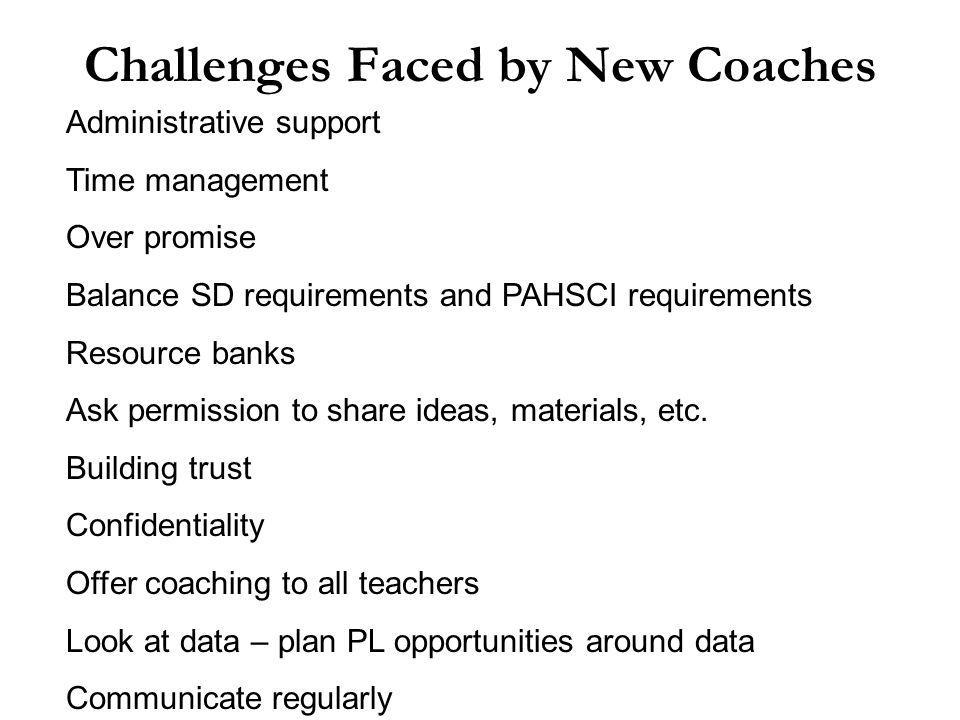 Where Does a New Coach Begin? Coaching Continuum Low RiskHigh Risk