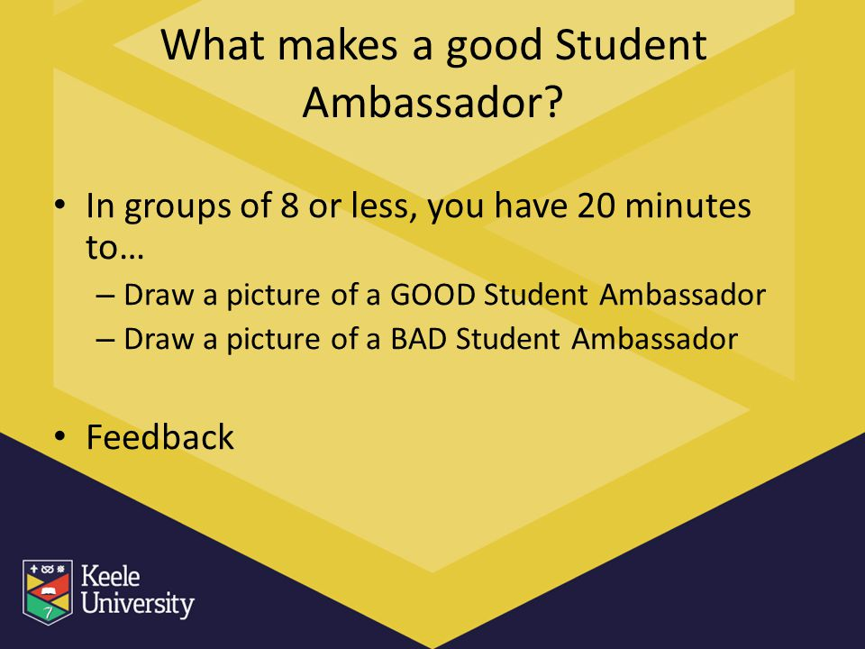 What makes a good Student Ambassador.