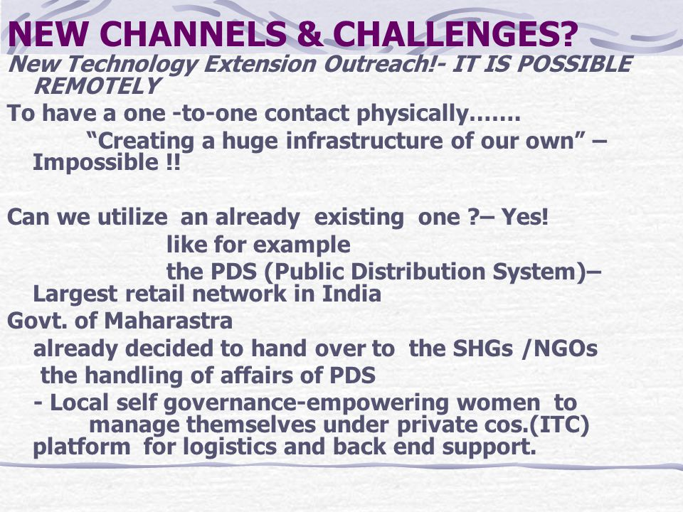 """NEW CHANNELS & CHALLENGES? New Technology Extension Outreach!- IT IS POSSIBLE REMOTELY To have a one -to-one contact physically……. """"Creating a huge in"""