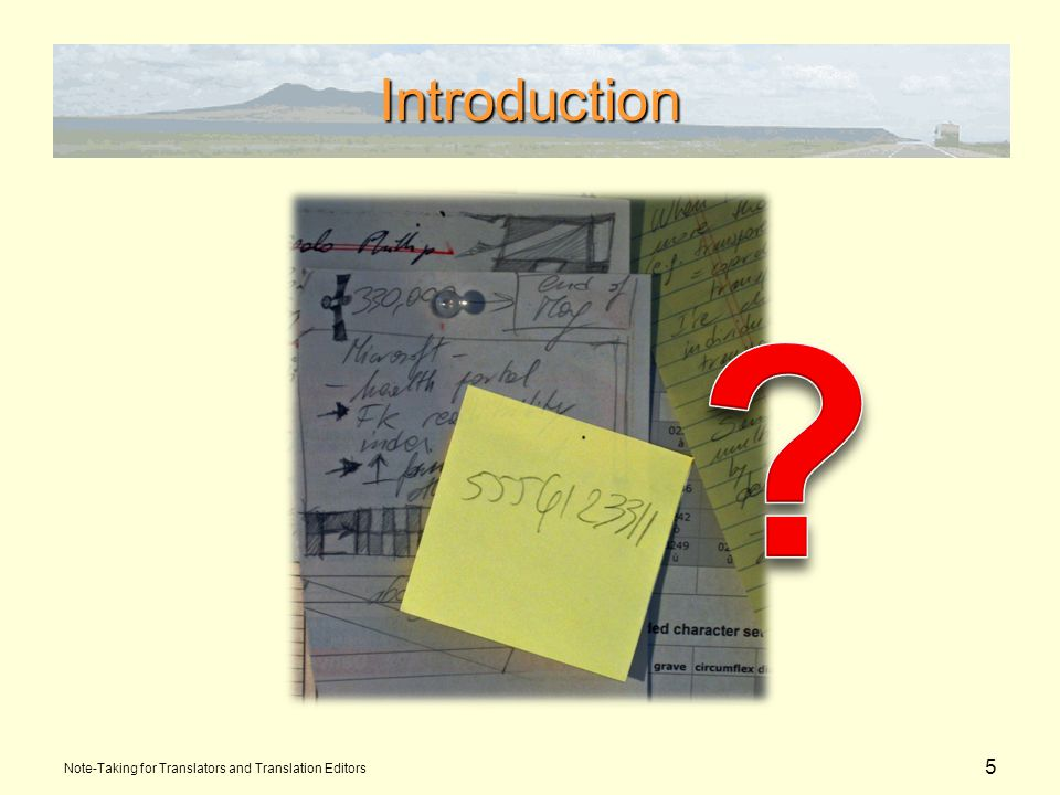6 Introduction...Then it means you need to put things in better order.