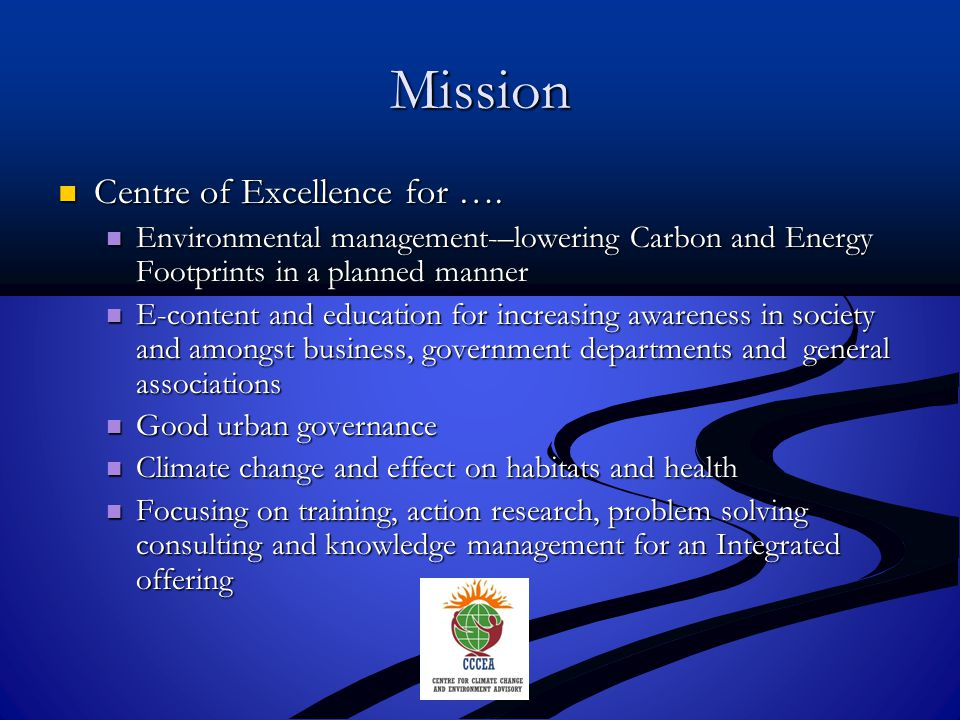 Thank You Contact us Centre for Climate Change and Environment Advisory Dr.